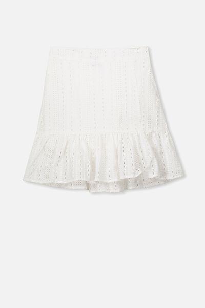 Sofia Broderie Skirt, WHITE BRODERIE