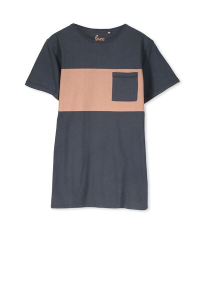 Ollie Ss Tee, GRAPHITE/WASHED UP