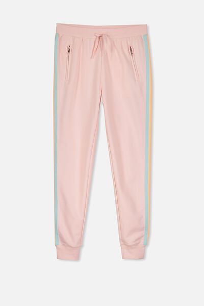 Tori Tape Trackpant, SEA PINK/MAGIC SIDE STRIPE