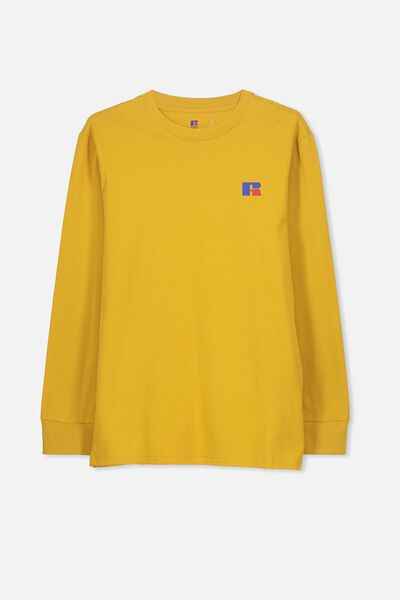 Russell Long Sleeve Tee, LCN RUS/GOLD GLOW