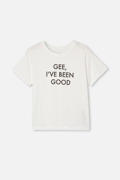 Girls Classic Ss Tee, VANILLA/GEE I VE BEEN GOOD