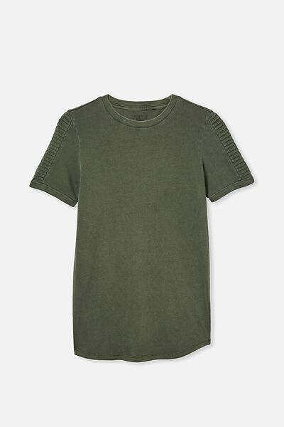 Free Boys Long Line Tee, SWAG GREEN