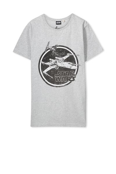 Louis Licence Tee, GREY MARLE/X-WING