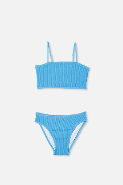 Millie Rib Tankini, BLUE BIRD
