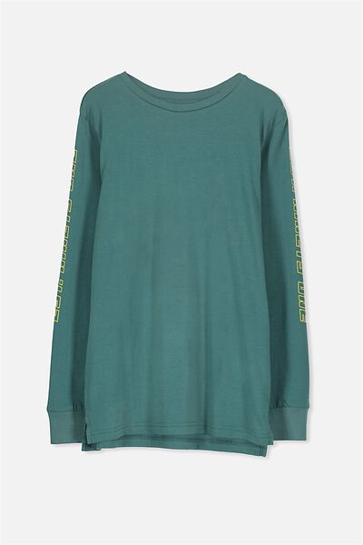 Bobby Long Sleeve Tee, DARK PINE/MOUNTAIN LINES
