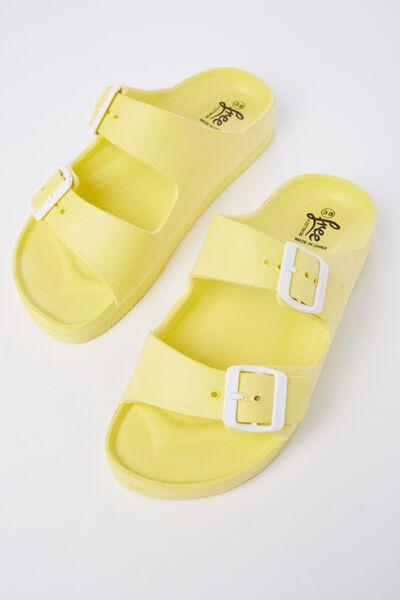 Free Twin Strap Sandal, CITRONELLA