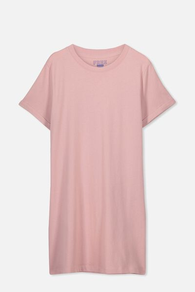 Tshirt Dress, DUSTY ROSE