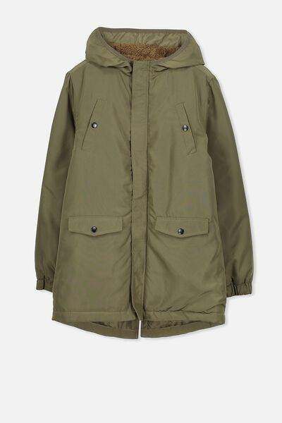 Mack Hooded Anorak, CLIVE GREEN