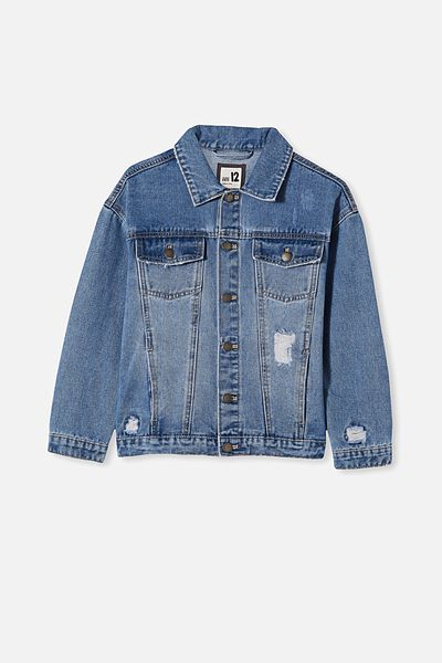 Amelia Oversized Denim Jacket, WEEKEND WASH
