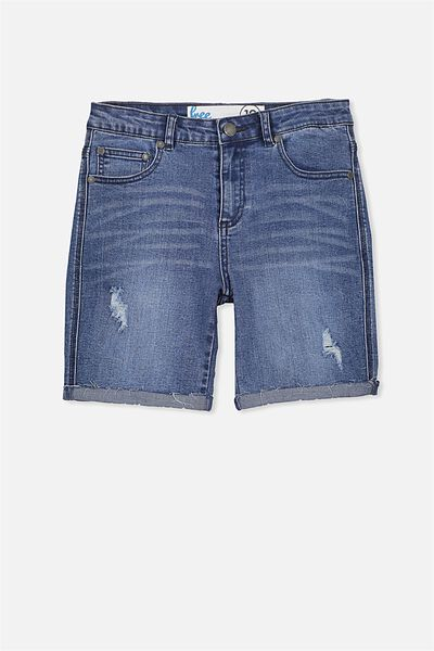 Leon Ii Denim Short, MID INDIGO