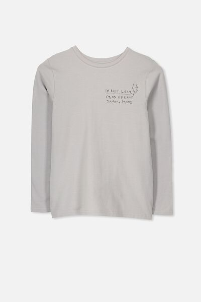 Tim Ls Sleep Top, METAL GREY/LAZY
