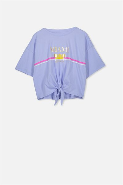 Ellie Tee Tie Front, BUTTERFLY BLUE/MIAMI/TIE