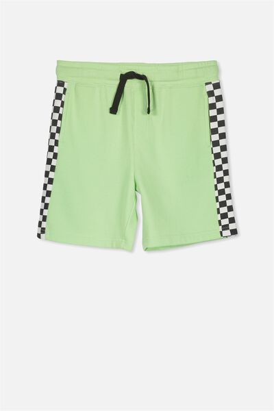 Game Knit Short, LIME FIZZ/CHECK PANEL