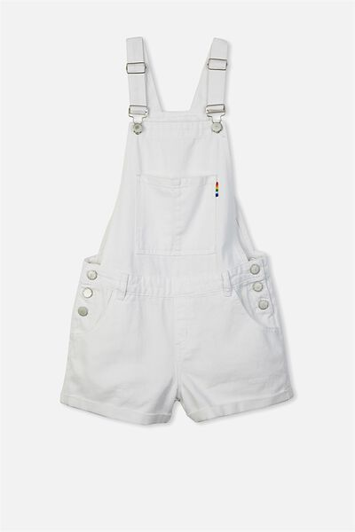 Dixie Denim Shortall, WHITE