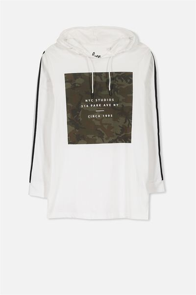 Jimmy Ls Tee, WHITE/CAMO BLOCK