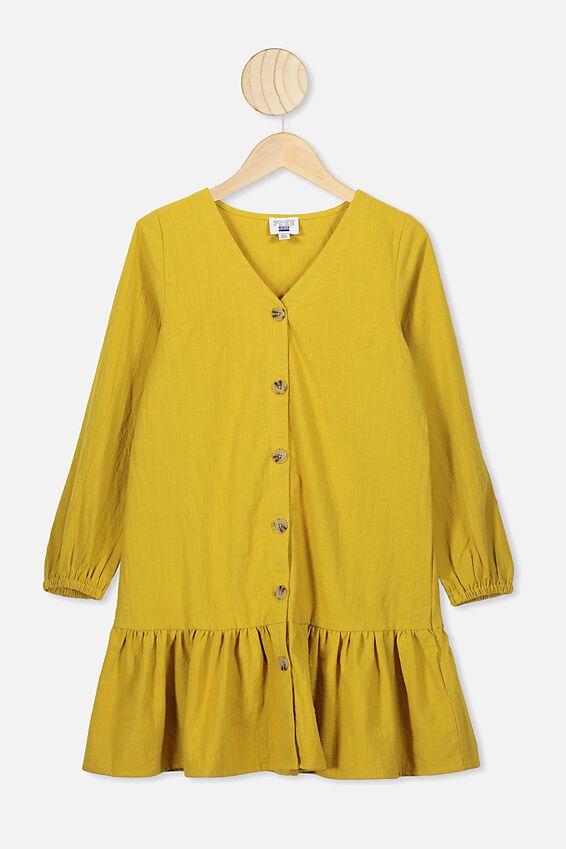 Leila Long Sleeve Dress, KEEN AS MUSTARD