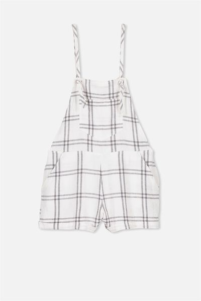 Candice Playsuit, LARGE CHECK