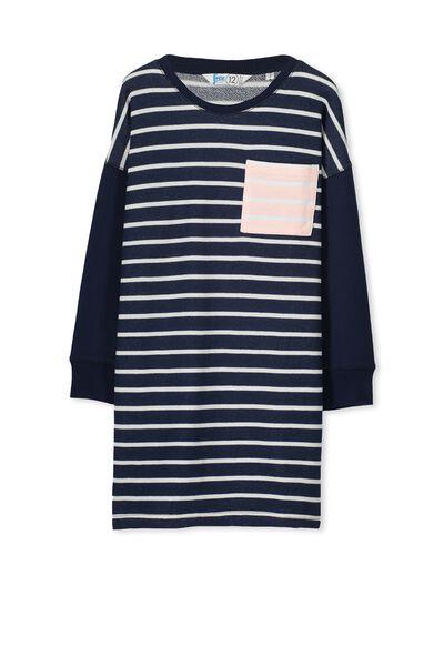 Flick Dress, OBRIEN BLUE/STRIPE