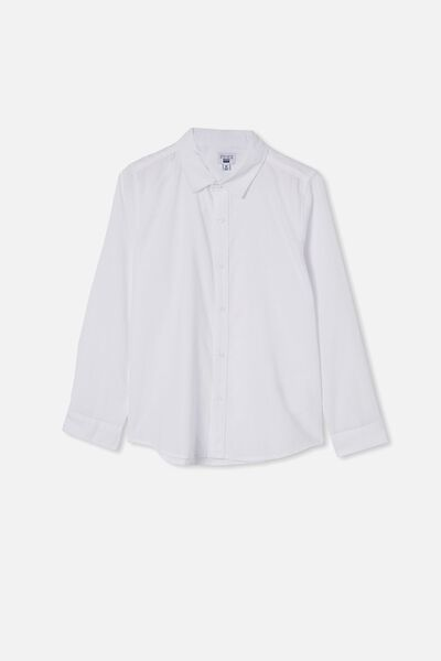 Free Boys Harper Ls Shirt, WHITE