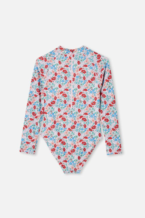 Lindsay Long Sleeve One Piece, PINK QUARTZ/LIBBY FLORAL