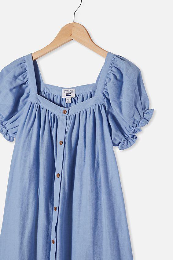 Gracie Short Sleeve Dress, DUSK BLUE