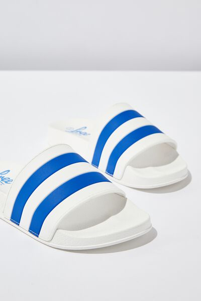 Free Pool Slides, WHITE/BLUE