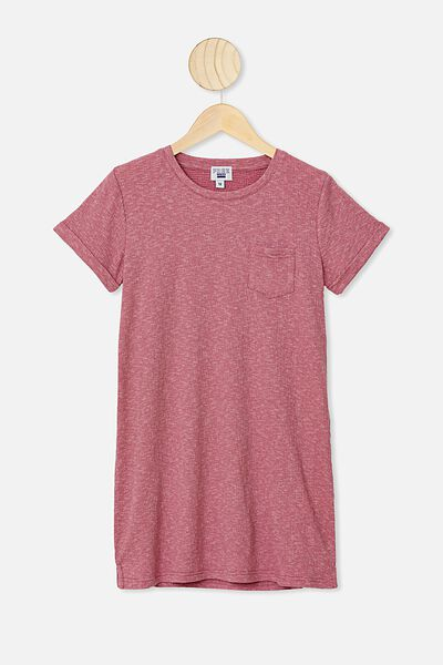 Toni Tshirt Dress, VERY BERRY TEXTURE