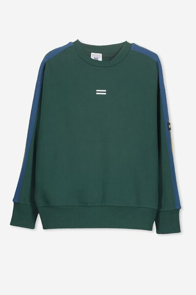Crew Neck Jumper, RICH GREEN