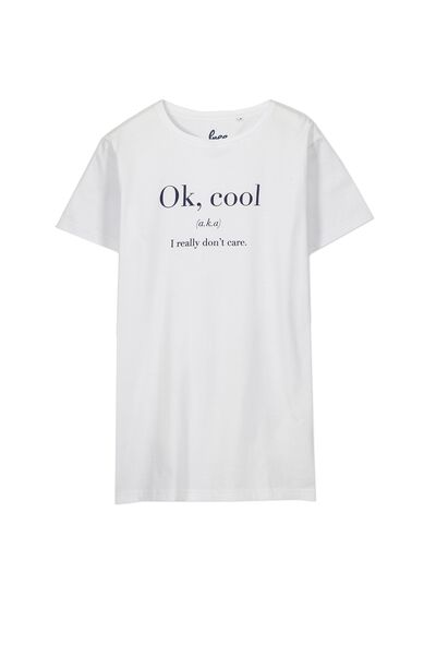 Ollie Ss Tee, WHITE/COOL