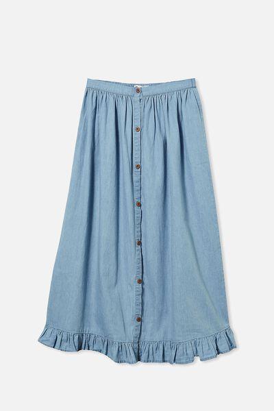 Yasmin Midi Skirt, MID BLUE WASH