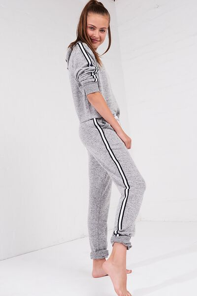 Supersoft Trackpant, GREY MARLE/TAPE