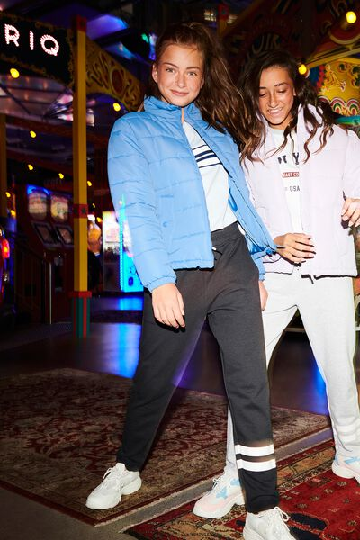 Keeper Girls Track Pant, SHADOW/STRIPE