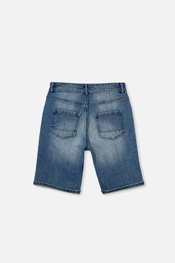 Boys Bermuda Dnm Short, MID BLUE WASH