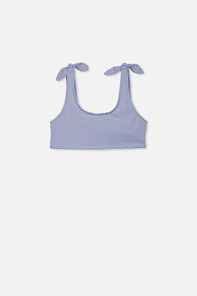 Tropic Bikini Top, WHITE/SWIM BLUE STRIPE