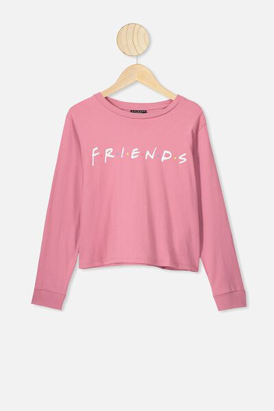 Girls License Ls Tee, LCN WB VERY BERRY/FRIENDS LOGO