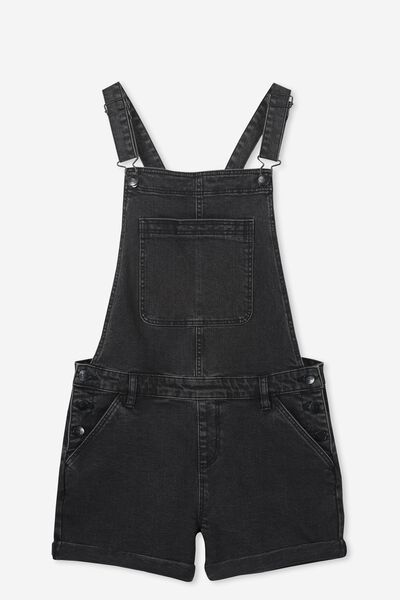 Denim Shortall, WASHED BLACK