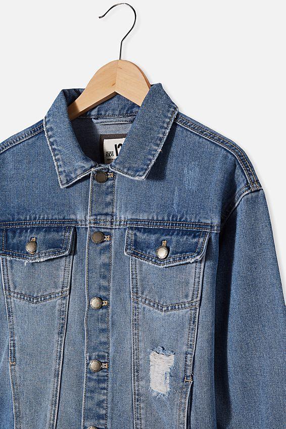 Amelia Oversized Denim Jacket, WEEKEND WASH