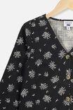 Leila Long Sleeve Dress, PHANTOM/POSEY FLORAL