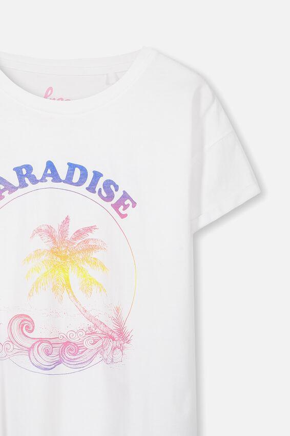 Ellie Tee, WHITE/PARADISE