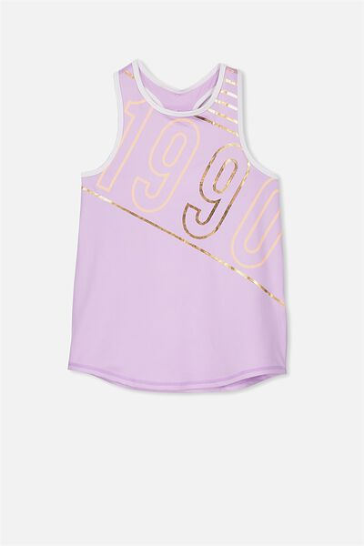 Free Active Racer Tank, WASHED LILAC/1990
