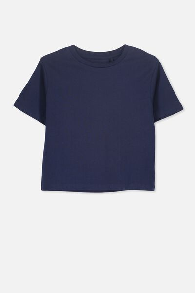 Girls Essential Tee, NEW PEACOAT
