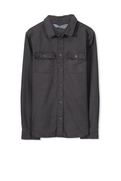 Maxwell Ls Shirt, GRAPHITE