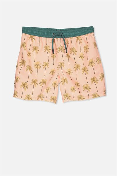 Pool Short, PEONY PINK/PAINTED PALMS