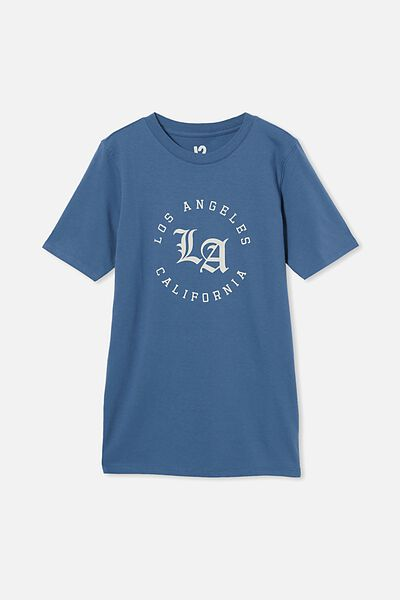 Free Boys Skater Short Sleeve Tee, PETTY BLUE/LA