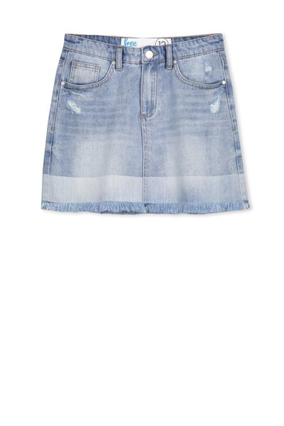 Cara Denim Skirt, INDIGO