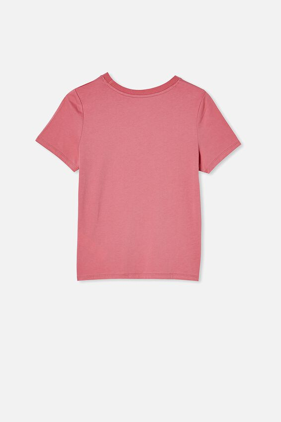 Girls Classic Ss Tee, VERY BERRY/GROW IN YOUR OWN TIME