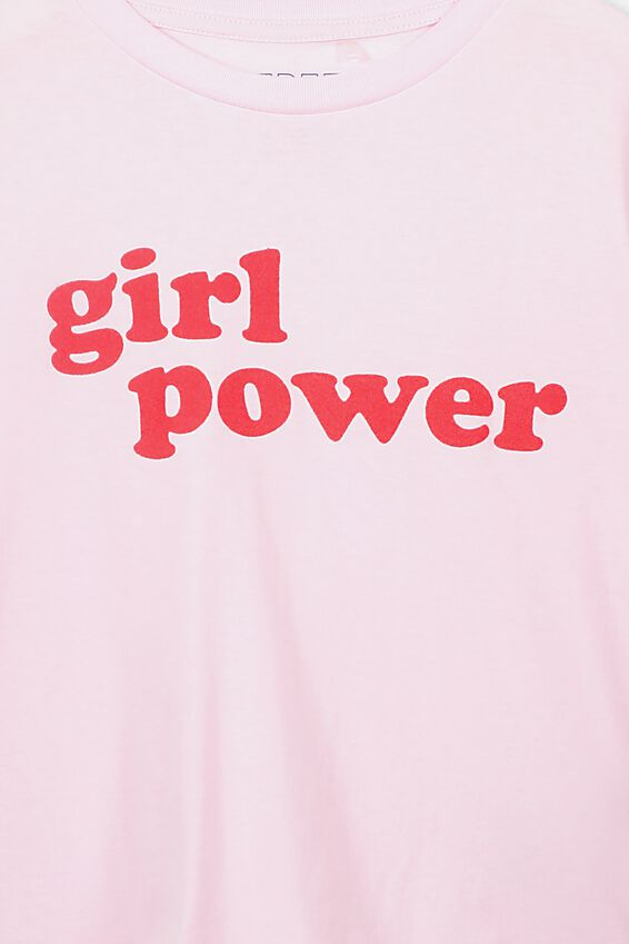 Boxy T-Shirt, BARLEY PINK/GIRL POWER