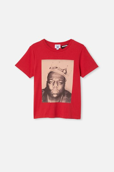 Girls License Classic Ss Tee, LCN MT LUCKY RED/BIGGIE FACE