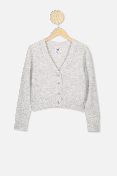 Ailie Crop Cardigan, SUMMER GREY MARLE