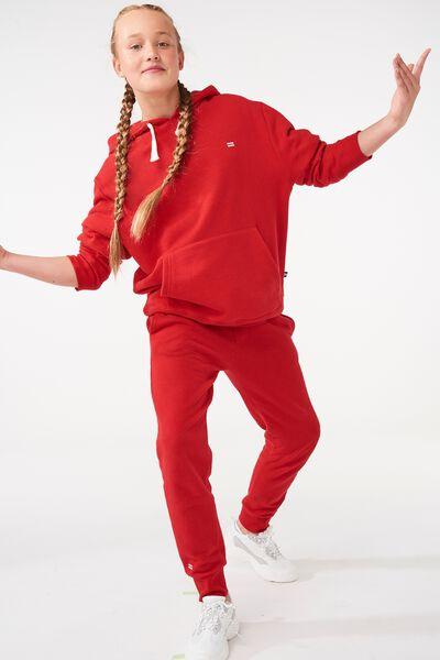 Equal Fleece Hoodie, RACING RED